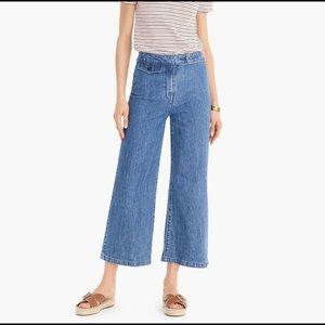 J. Crew Point Sur Wide Leg Cropped Jeans